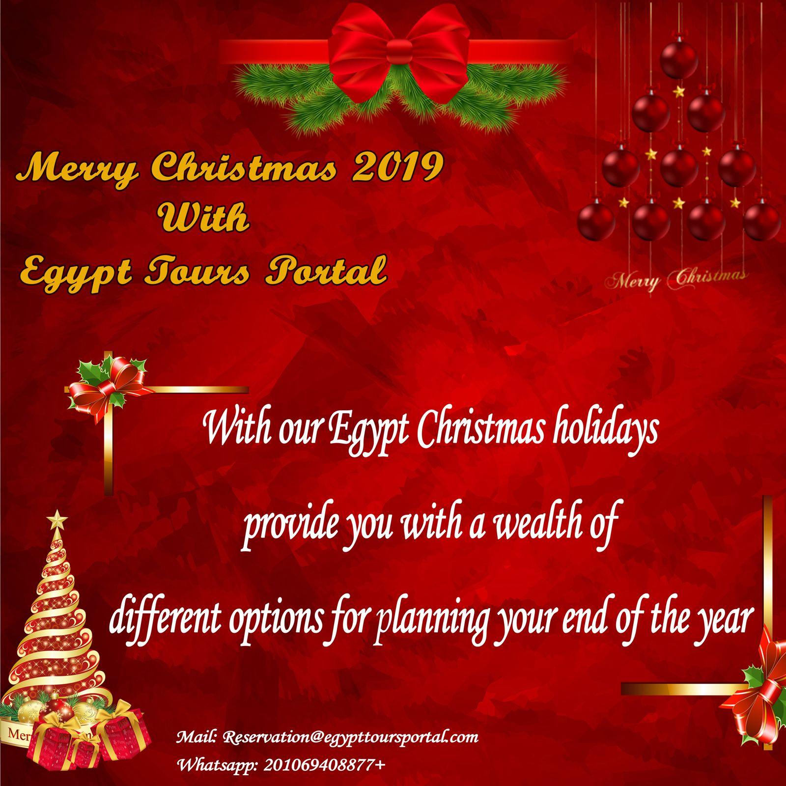 Christmas Tours Egypt December 2021