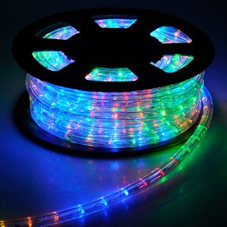 Christmas Lighting Led Rope Light 50ft Multi Color W Connector Learn More Christmas Rope Lights Led Rope Lights Lighting Christmas Rope Lights