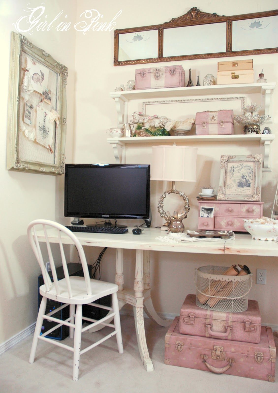 cool shabby chic home office decor | One Girl In Pink: Favorite Posts of 2012...Yours and Mine ...
