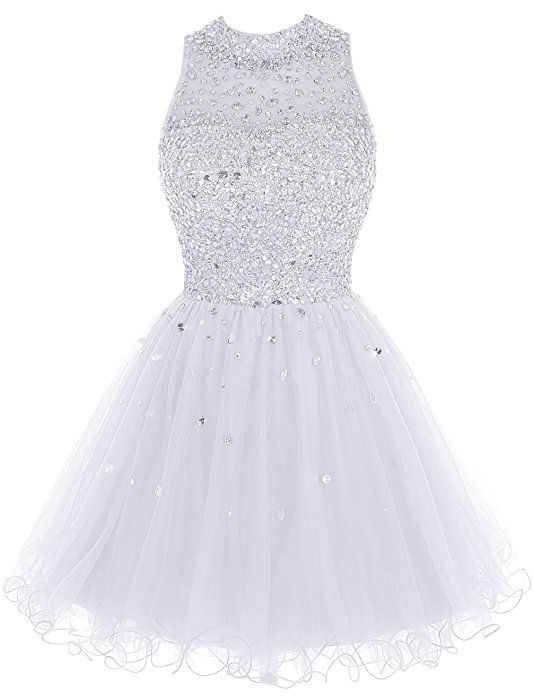 Amazon.com  Bbonlinedress Short Tulle Beading Homecoming Dress Prom Gown  Blush 10  Clothing a2ff032c4