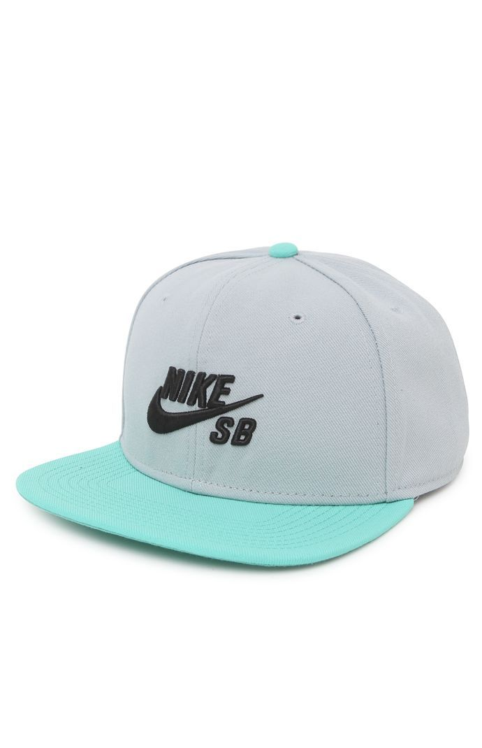 bce42dd2f91 Nike SB goes with a two tone snapback hat that can be found at PacSun. The Nike  SB Icon Snapback Hat has a simple logo on front and a logo loop on ...