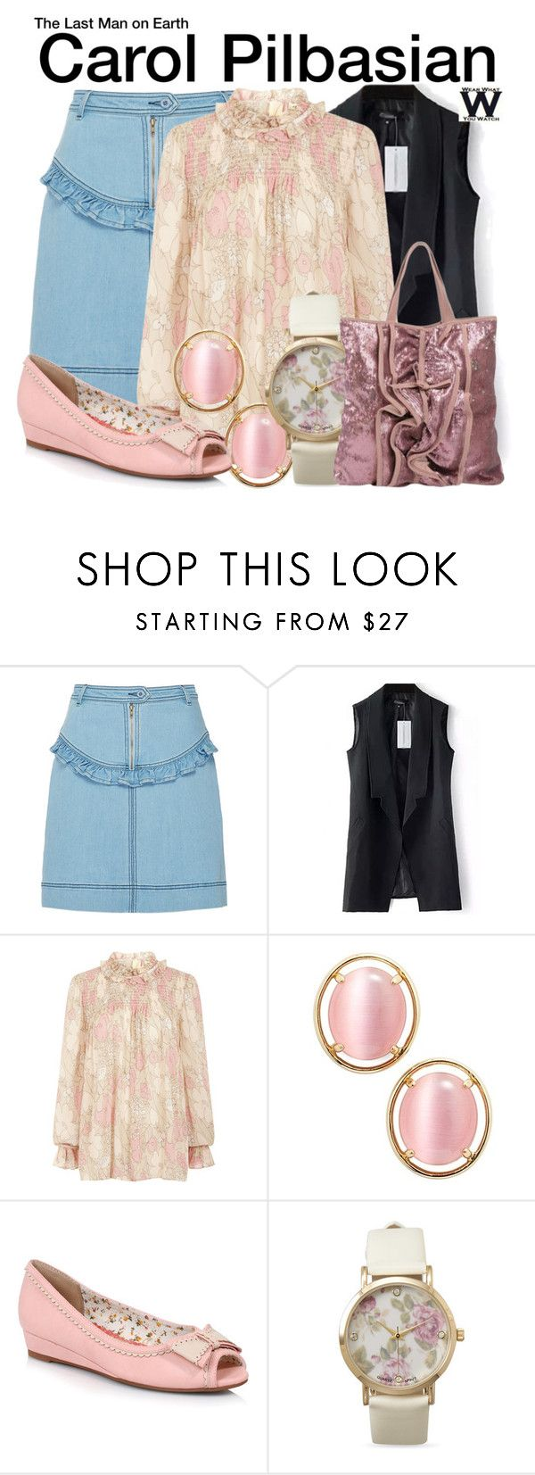 """The Last Man on Earth"" by wearwhatyouwatch ❤ liked on Polyvore featuring Manoush, Jill Stuart, Kate Spade, Ellie, BillyTheTree, RED Valentino, television and wearwhatyouwatch"