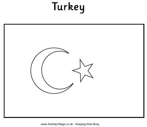 Turkey Flag Coloring Page Bulbulk Com Flag Coloring Pages Coloring Pages Turkey Flag