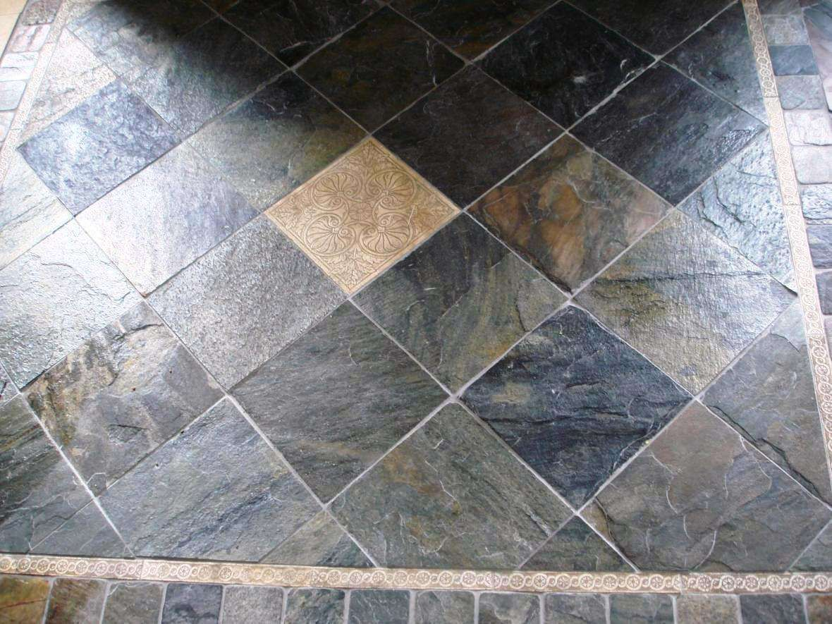Natural Slate Floor Tiles Can Last Well Over 100 Years Concrete And Stone Care Specialty