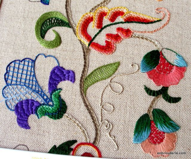 Hannah does beautiful work! Love this crewel embroidery piece.