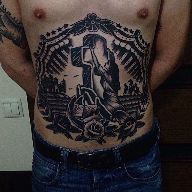 xGusakx as featured on Swallows & Daggers. www.swallowsndaggers.com #tattoo #tattoos #front