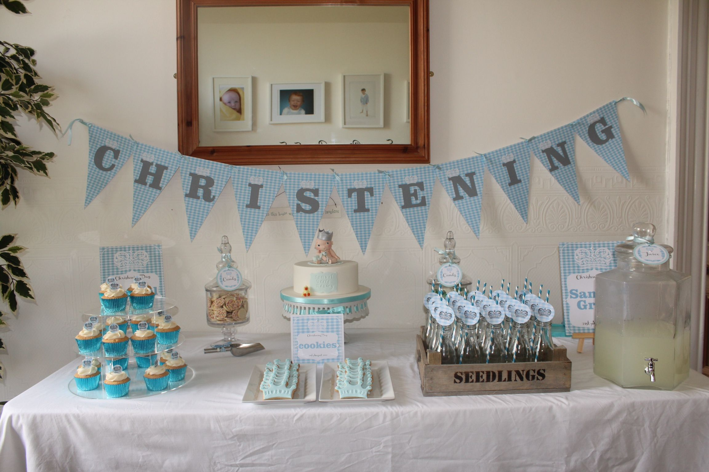 Cake Table Ideas For Christening : Baby boy christening dessert table Kidz stuff ...