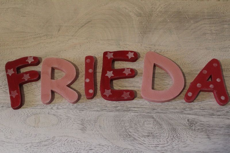 Holzbuchstaben - Holzbuchstaben Kinderzimmer Kind Name - ein Designerstück von InasNordlichter bei DaWanda