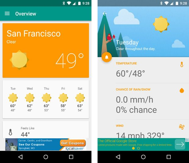 material design apps android simple weather | MRM 4 0 | App