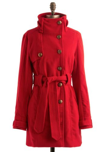 I need a new jacket that isn't as long (or over-sized) as the ones I have now. Could I handle red though?? All I have to say is: BUTTONS!!!