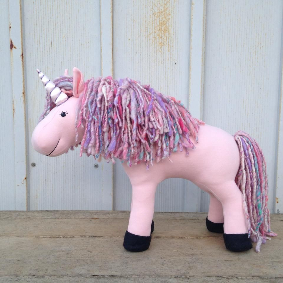 Princess is a light pink unicorn with pink and purple handspun mane and tail…