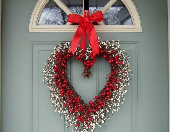 valentine door wreaths | Valentine Wreath - Valentine Door Wreath - Wreath for Valentines Day