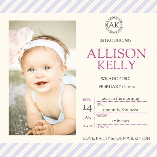 Adoption Announcements - We Adopted! by Future family Pinterest