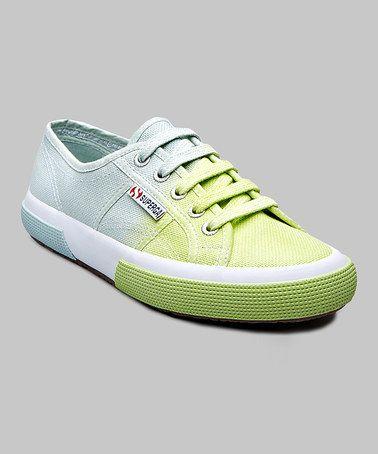 Another great find on #zulily! Lavender & Acid Green Cotu Shade Sneaker - Women #zulilyfinds