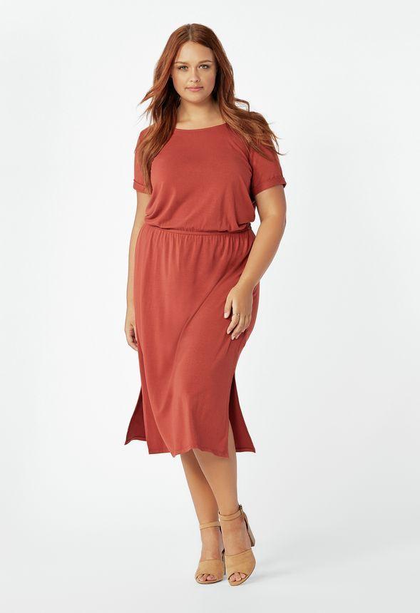 9f9bbff6ca Midi Knit Dress in CINNAMON - Get great deals at JustFab | My Closet in  2019 | Dresses, Knit dress, Knitting