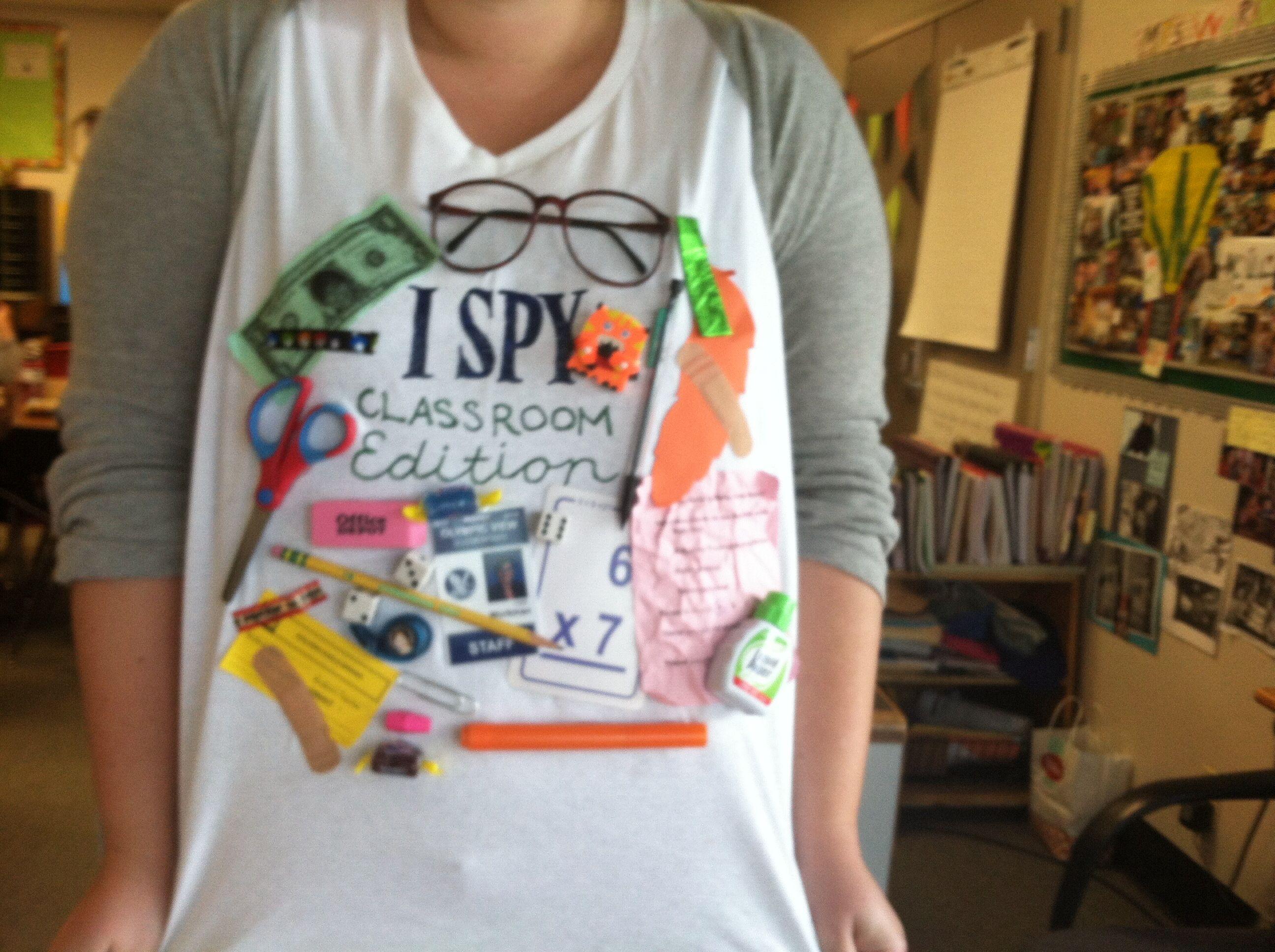 Classroom Dress Up Ideas : I spy classroom edition tshirt ideas pinterest