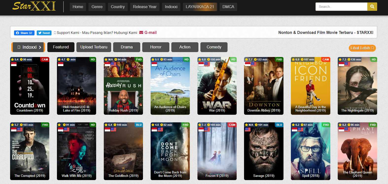 Situs Nonton Film Layarkaca21 Indoxxi LK21 Starxxi