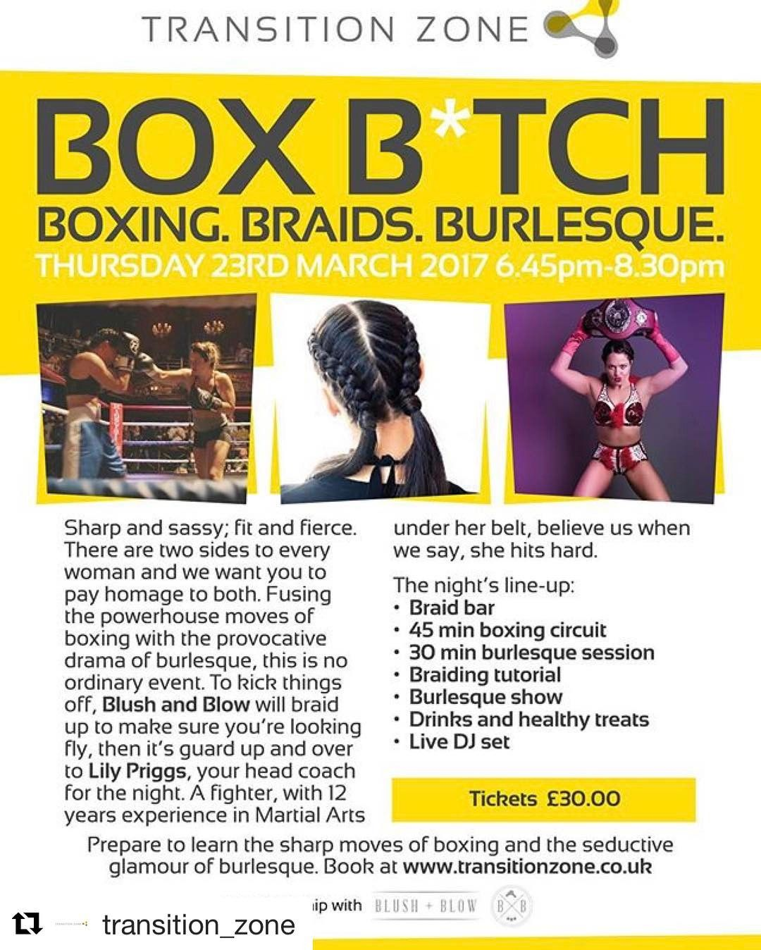 Just bought a ticket to Box Btch event at Transition Zone!! Anyone ...