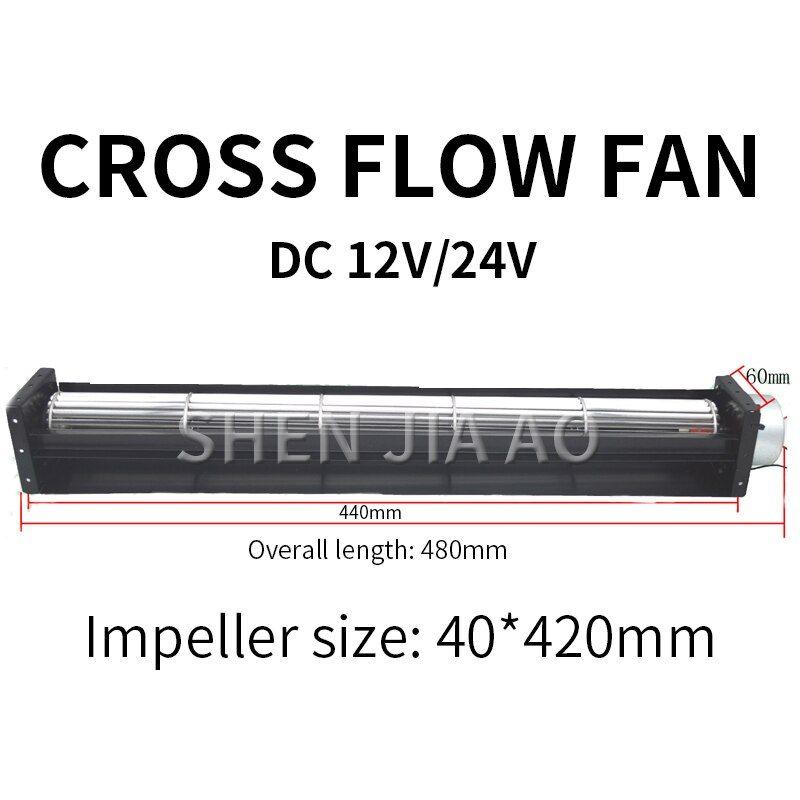 Stf40420 Multi Purpose Cross Flow Fan Dc12v 24v Cross Flow Fan Air Curtain Machine Treadmill Dedicated Cooling Fan Di 2020
