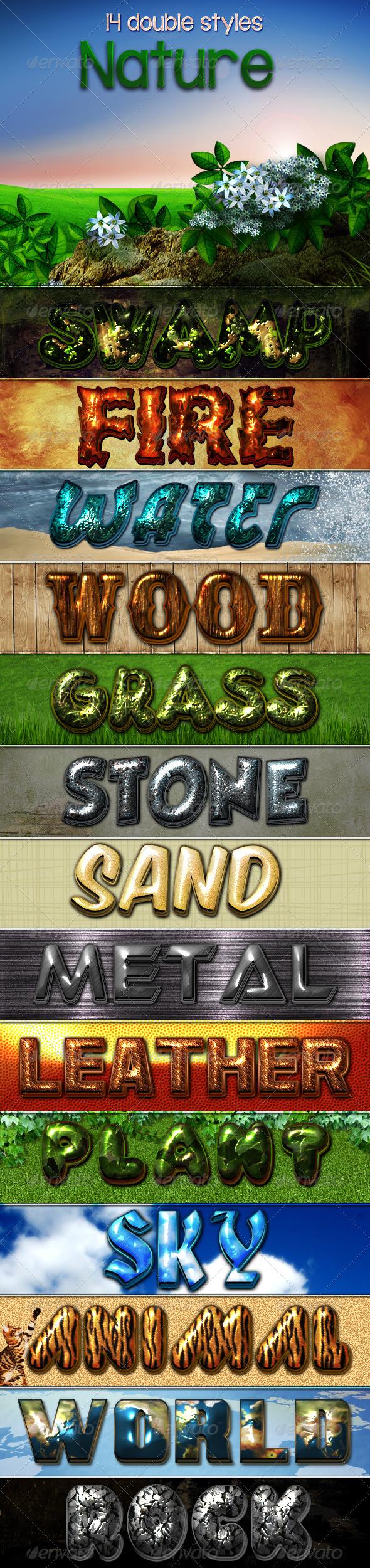 Nature Styles | Photoshop Text Styles | Style, Photoshop ...