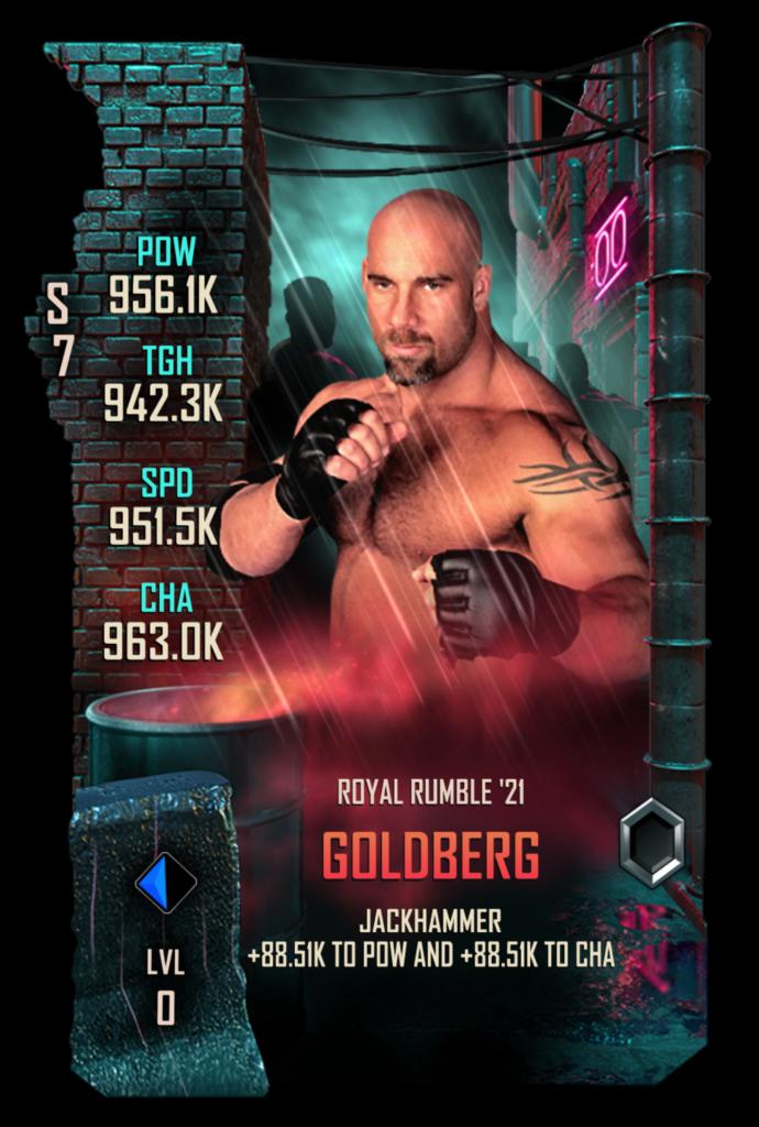 Wwesc S7 Goldberg Royal Rumble Wwe Supercard Announces New Royal Rumble 2021 Event In 2021 Royal Rumble Wwe Royal