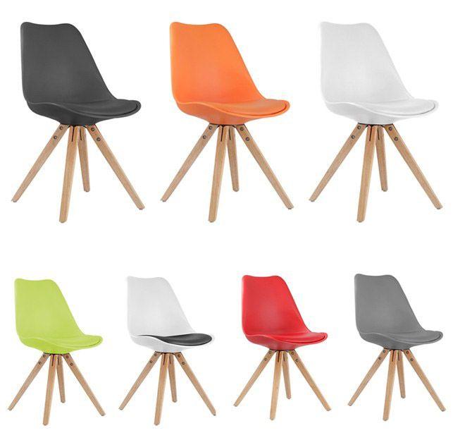 Chaise Style Scandinave Piétement Bois Riku Chaises En 2019