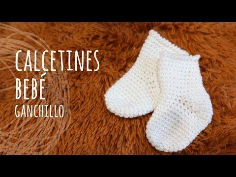 Tutorial Calcetines Fáciles Bebé Ganchillo Crochet Youtube Medias De Bebé Patucos Bebe Ganchillo Calcetines De Ganchillo