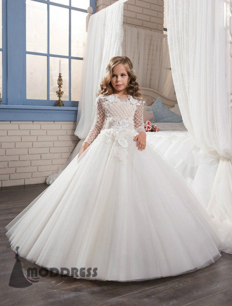 Wedding & Formal Occasion Wedding Party Flower Dress Girl Holy Communion Party Prom Princess Pageant Dress Girls' Clothing (sizes 4 & Up)