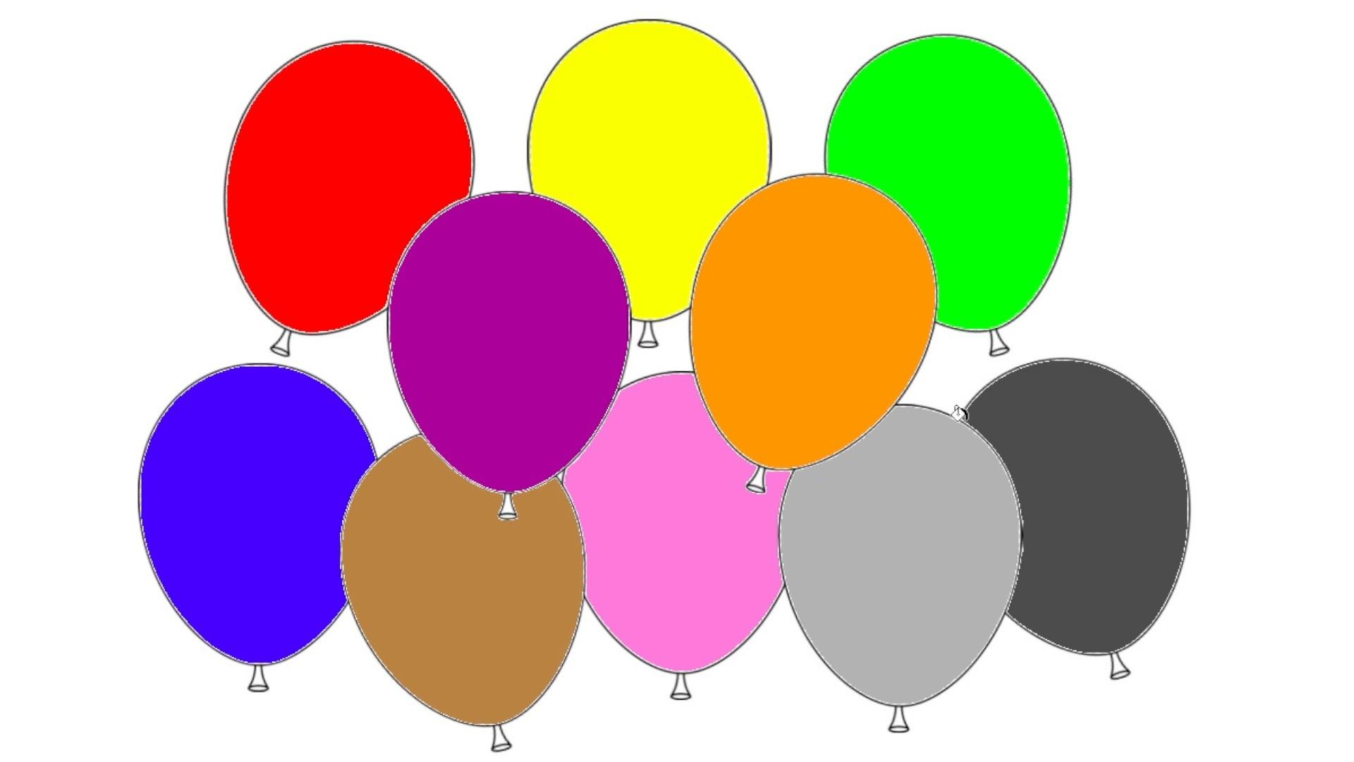 Learn Colours With Balloons Colouring Page Red Yellow