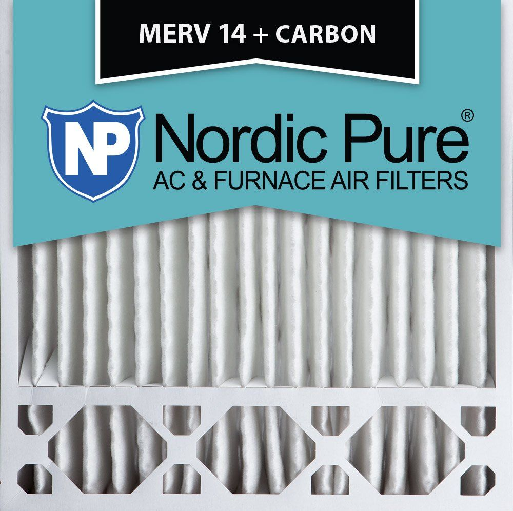 Nordic Pure 12x24x1 MERV 14 Plus Carbon Pleated AC Furnace Air Filters 6 PACK 6 PACK 6 Pack