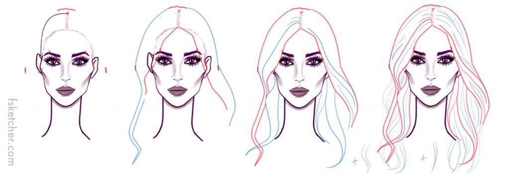 Long Wavy Hair Drawing Tutorial How To Draw Hair Wavy Hairstyles Tutorial Wavy Hairstyles Medium