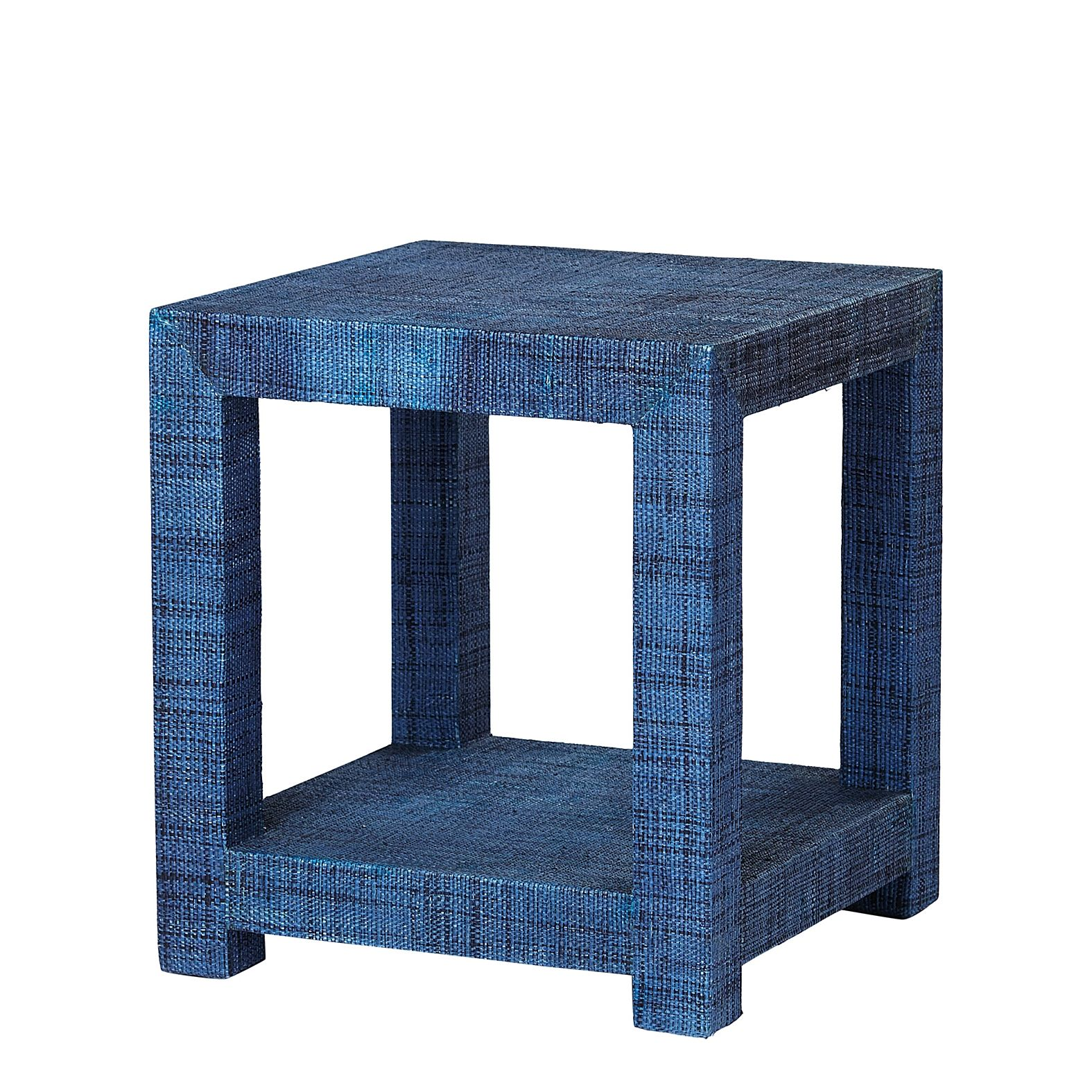 Blake Raffia Side Table Navy Serena Amp Lily Furniture