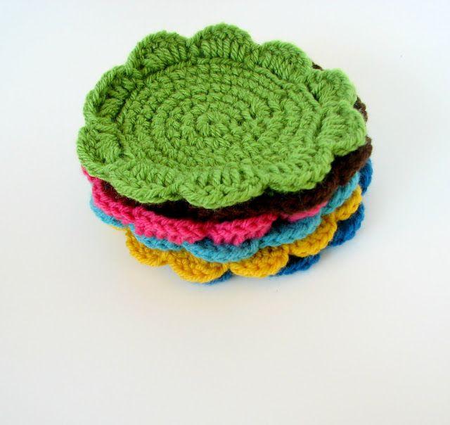 Crochet coasters Tutorial ༺✿ƬⱤღ✿༻