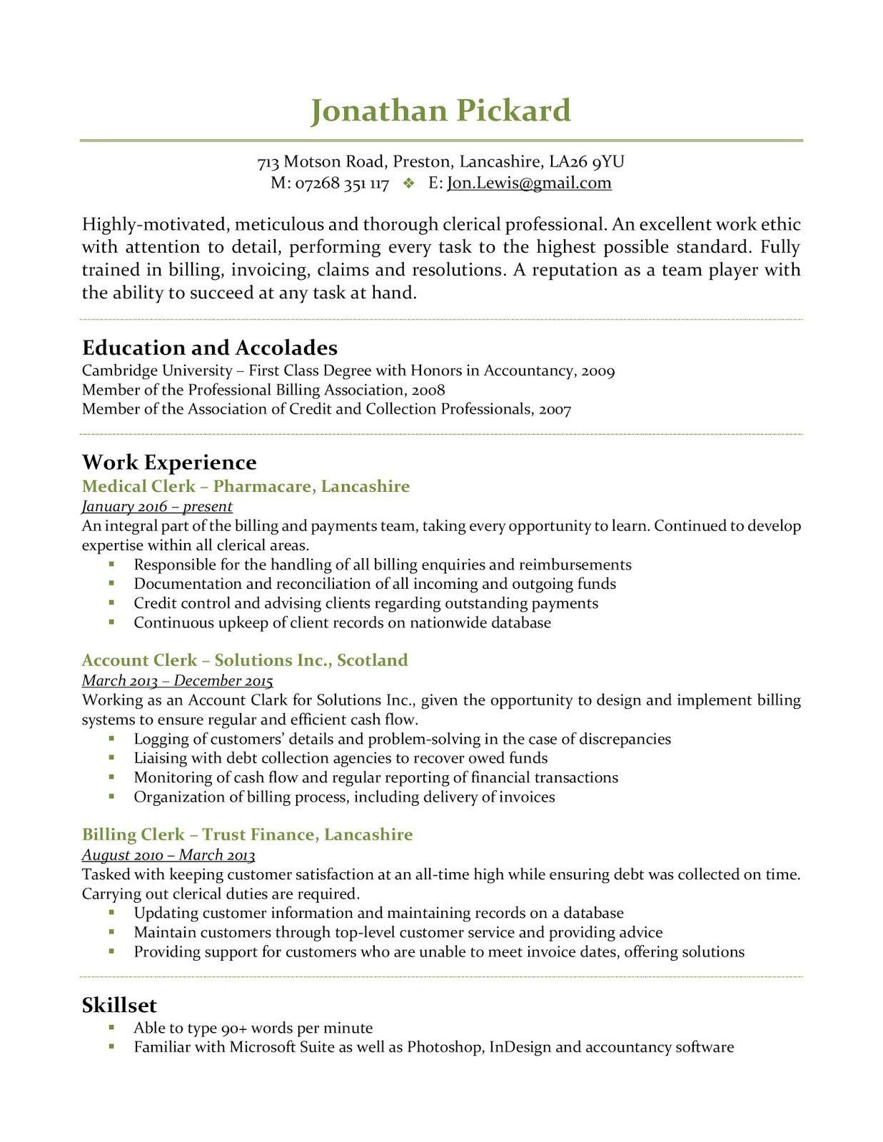 Account Clerk Resume Account Clerk Resume Sample Account Clerk Resume Examples Account Cl Resume Examples Cover Letter For Resume Resume Objective Statement