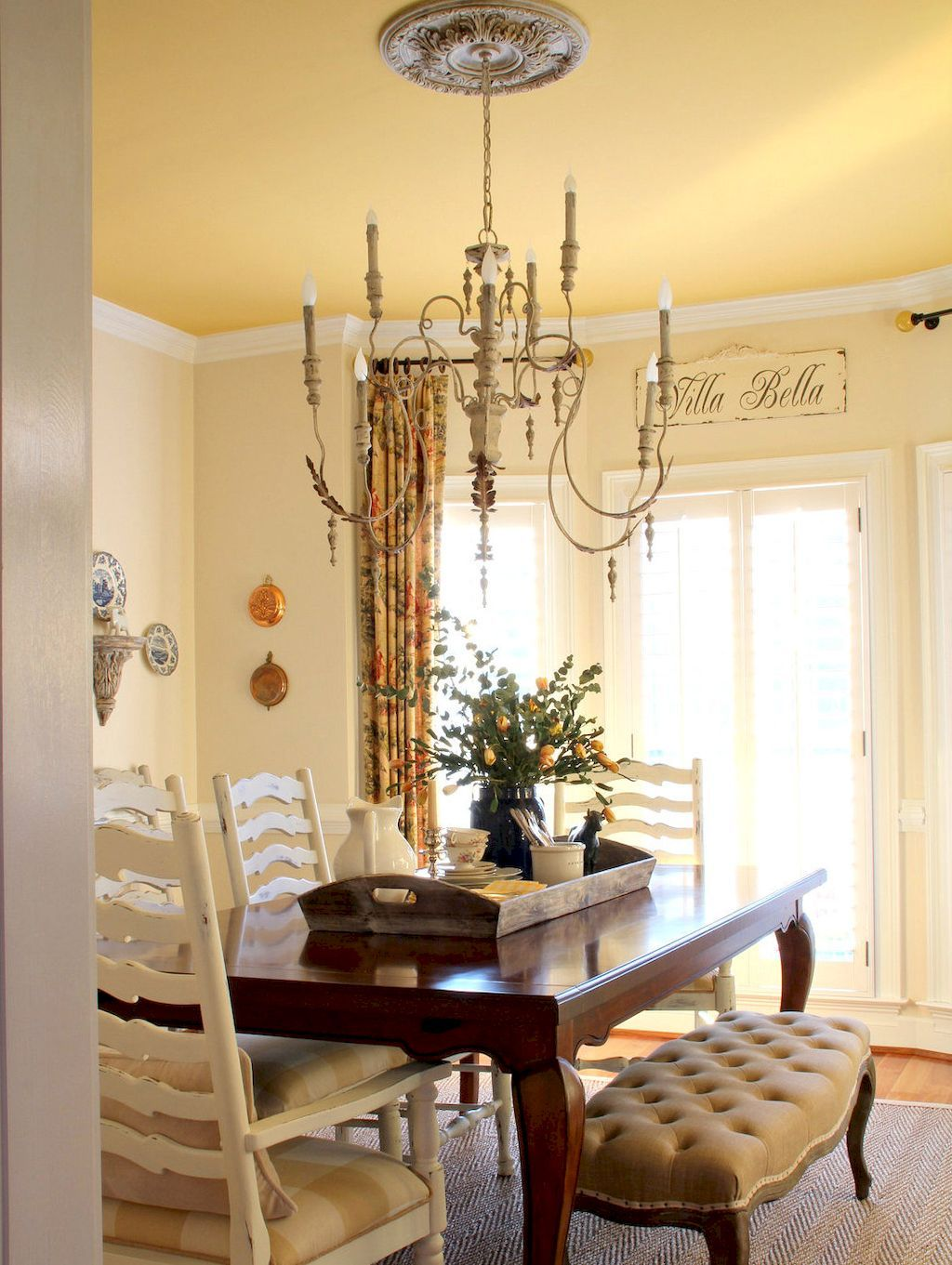 Dining Rooms Decorating Ideas Prepossessing 75 Fancy French Country Dining Room Decor Ideas  French Country Inspiration
