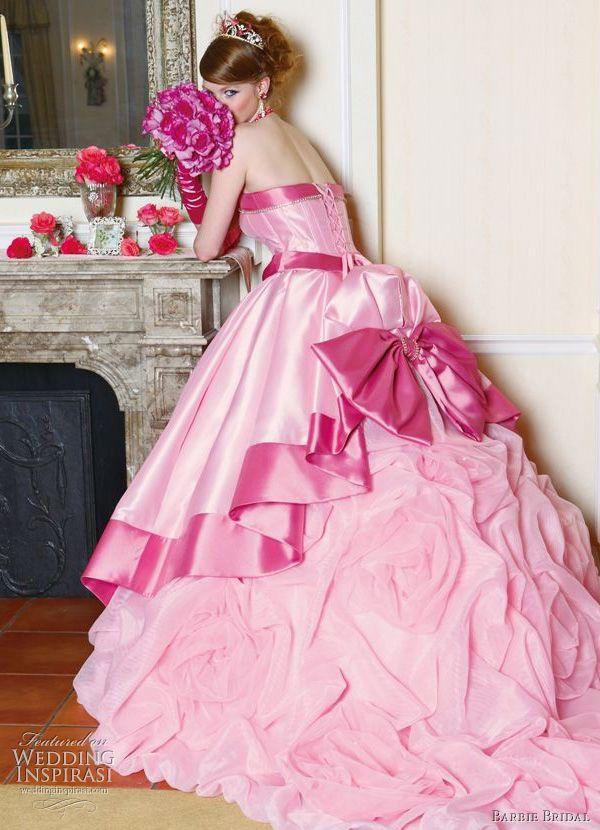 Pink wedding dress | wedding gown plan | Pinterest | Barbie