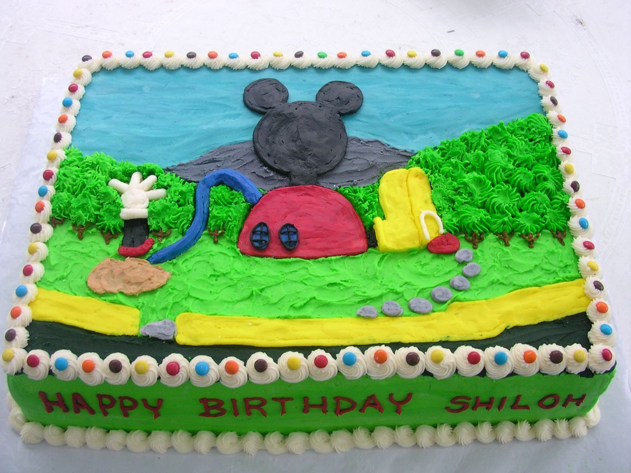 Mickey Mouse Clubhouse Buttercream Sheet Cake Holidays 6