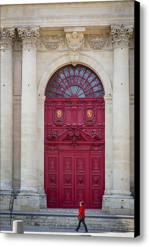 Church Doors Canvas Print Canvas Art By Brian Jannsen Paris Door Antique Doors Red Door
