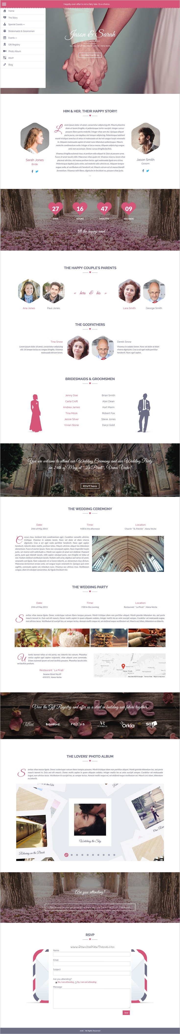 wedding invitation template themeforest%0A Amor is beautifully design responsive  WordPress theme for  webdesign  perfect  wedding invitation website