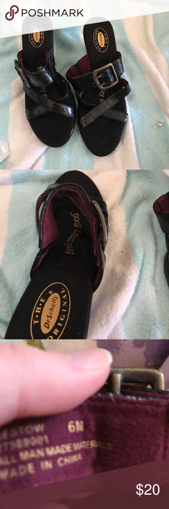 Doctor schools Nwot bestow black sandals 6m Nwot 1.5 inch heel. #509 Dr. Scholl's Shoes Heels