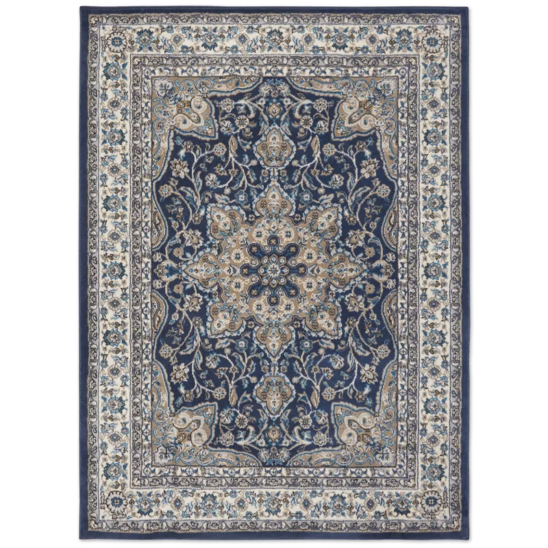 Mountview Oriental Navy Blue White Area Rug In 2020 Area Rugs Navy Blue Area Rug Navy Blue Rug