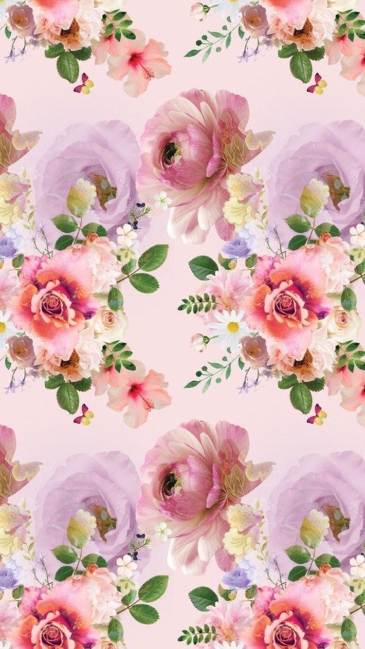 Pretty Pink Floral Wallpaper Pink Floral Wallpaper Flower