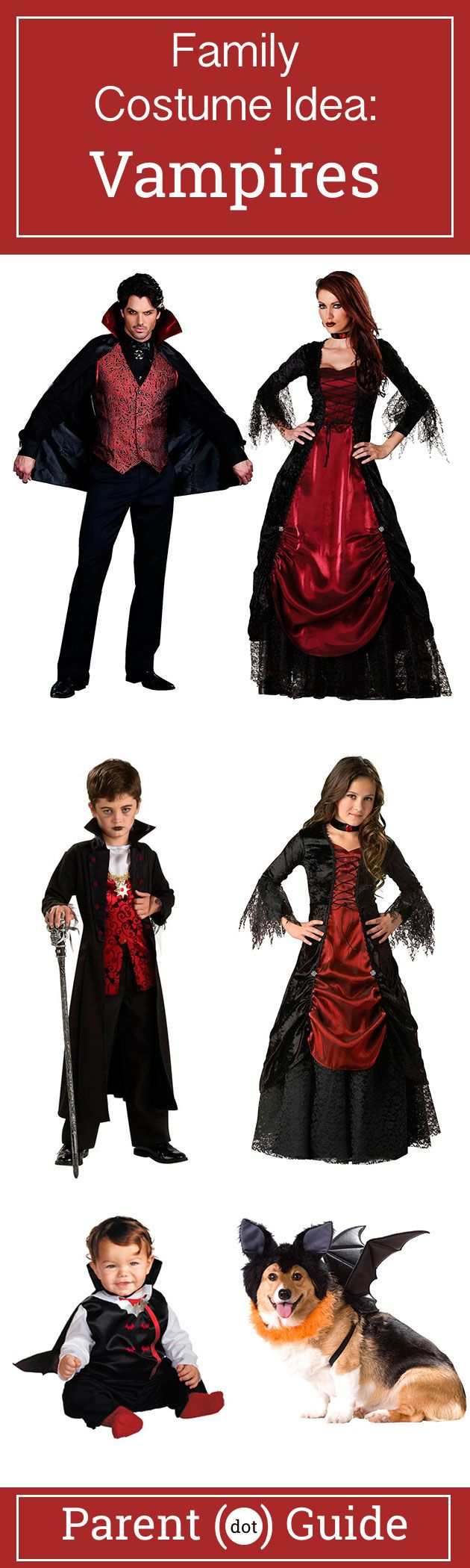 This is one spooky family. Dress up as gothic vampires and