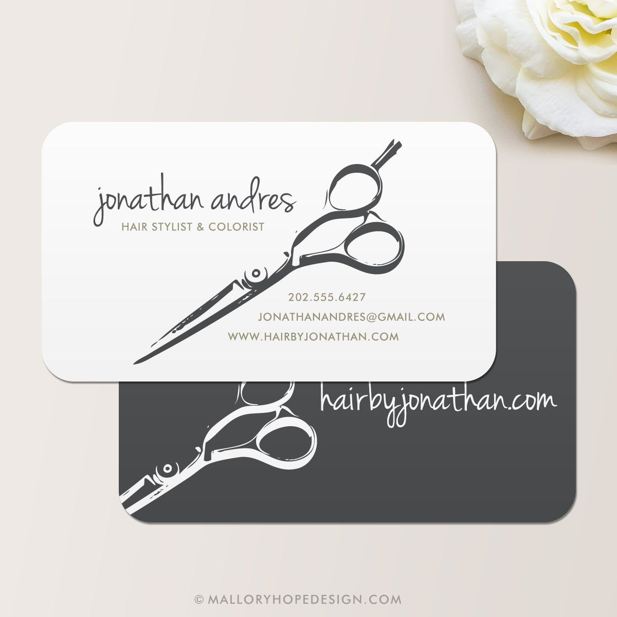 hairdresser business card - Google Търсене | Branding, Packaging ...
