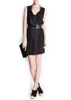MANGO - SALE - Beaded neck dress