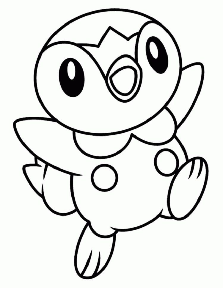 Pokemon Coloring Pages Piplup Pikachu Coloring Page Pokemon Coloring Cute Coloring Pages