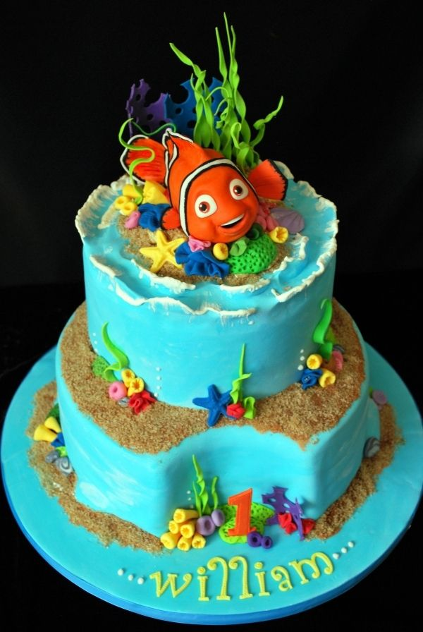 Groovy Nemo Birthday Cake Nemo Cake Finding Nemo Cake Kids Cake Funny Birthday Cards Online Drosicarndamsfinfo