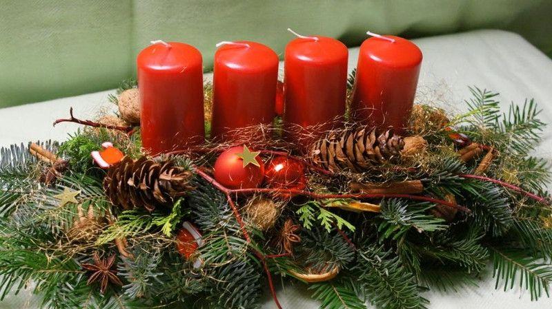 Adventsgesteck adventsgestecke dawanda und kreativ for Adventsgestecke bilder