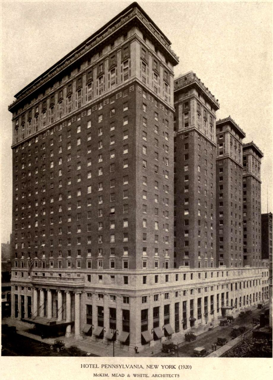 Mckim Mead White S Hotel Pennsylvania 1920 New York Looks A Lot Like The Old Utah Only Ger