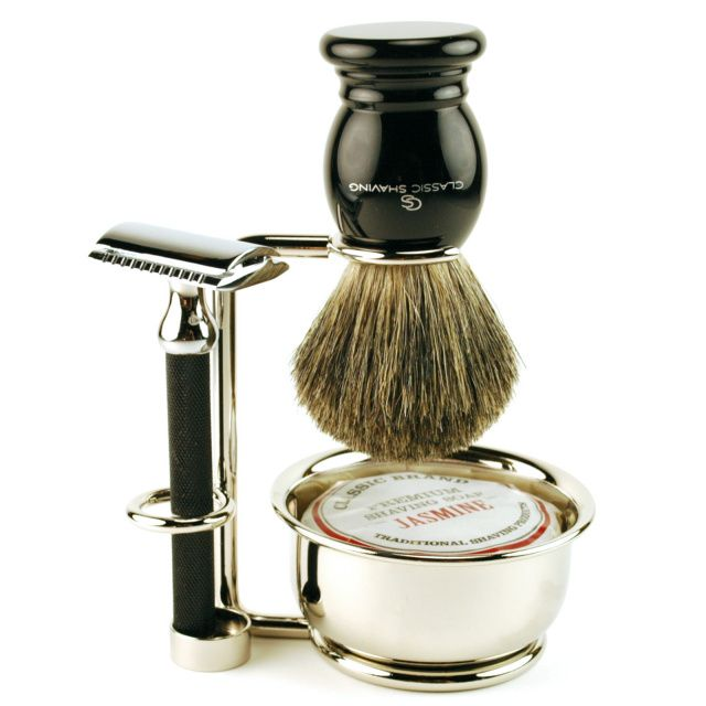 Classic Shave Vintage Style Black Double Edge Safety Razor